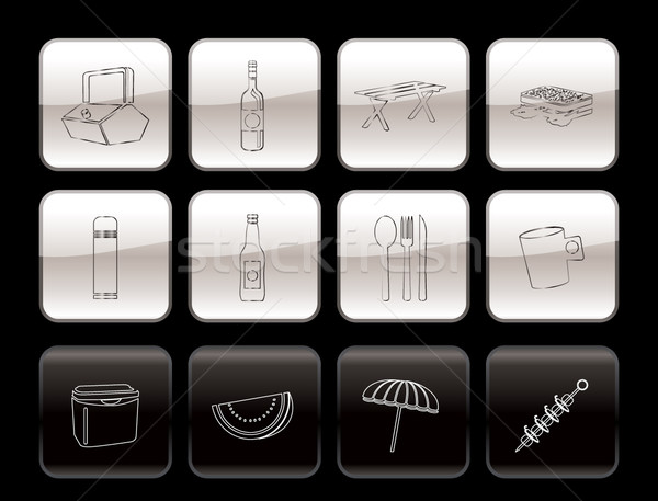 Picnic and holiday icons  Stock photo © stoyanh