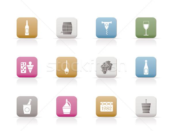 Wine Icons  Stock photo © stoyanh