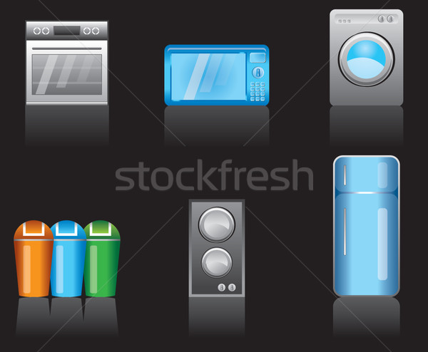 kitchen equipment icons  Stock photo © stoyanh