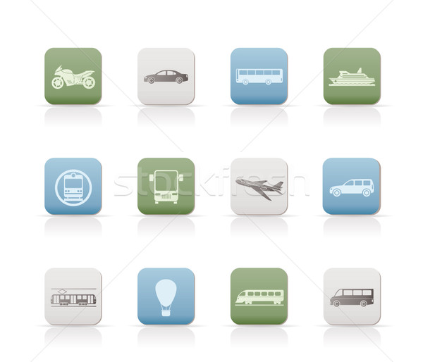 Stock photo: Travel and transportation of people icons