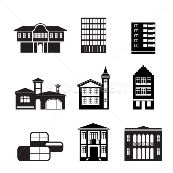 Zdjęcia stock: Inny · domów · budynków · komputera · budowy · okno