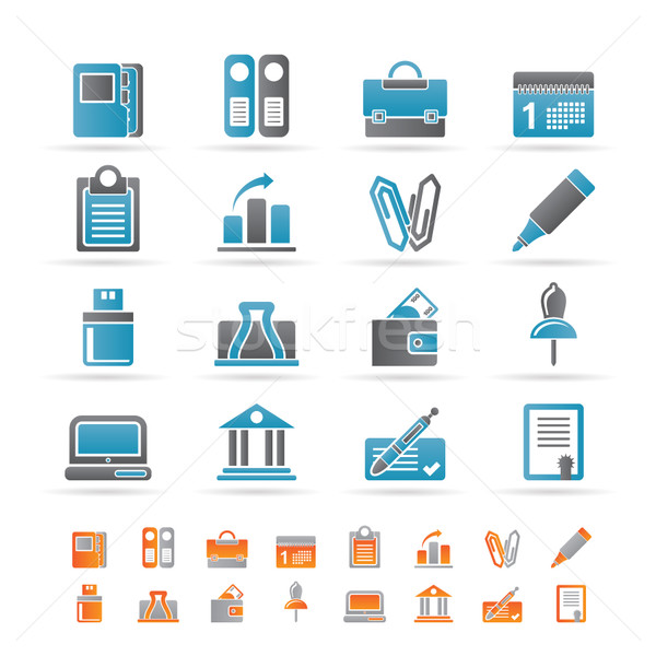 Business, Office and Finance Icons  Stock photo © stoyanh