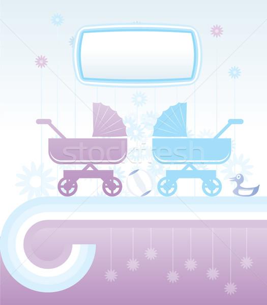 Baby dzieci charakter projektu chłopca zwierząt Zdjęcia stock © stoyanh