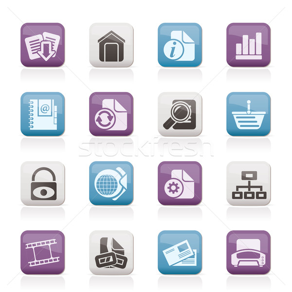 Stockfoto: Website · internet · pictogrammen · vector · ontwerp · achtergrond