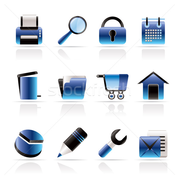 website, internet and computer icons  Stock photo © stoyanh