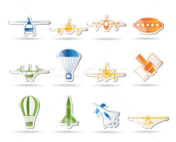 different types of Aircraft Illustrations and icons  Stock photo © stoyanh