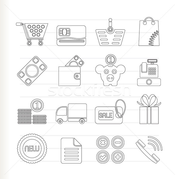 Online shop icons  Stock photo © stoyanh