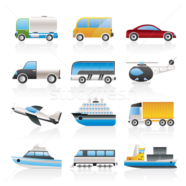 Travel and transportation icons Stock photo © stoyanh