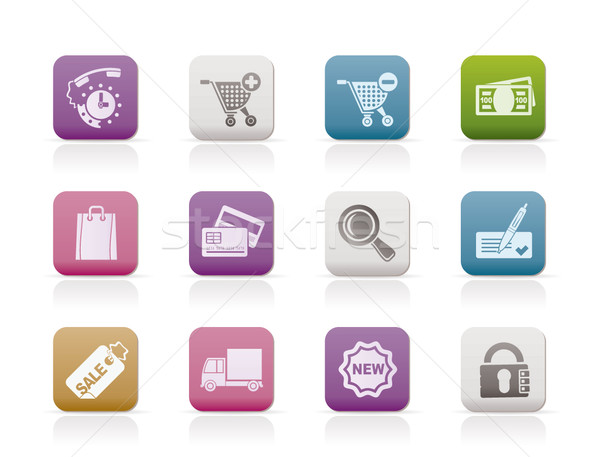 Internet icons for online shop  Stock photo © stoyanh