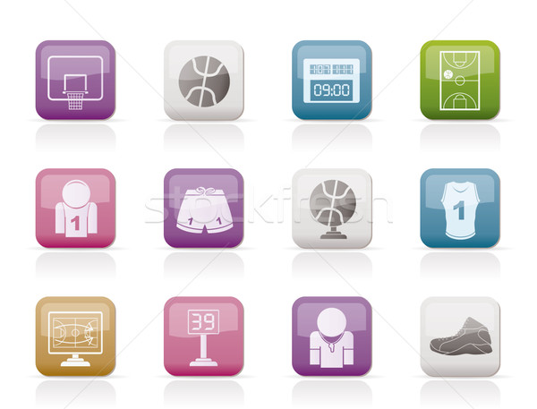 Basketball and sport icons  Stock photo © stoyanh