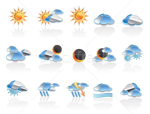 Weather and nature icons  Stock photo © stoyanh
