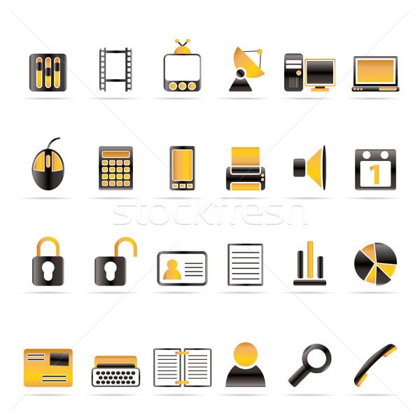 бизнеса служба иконки вектора компьютер Сток-фото © stoyanh