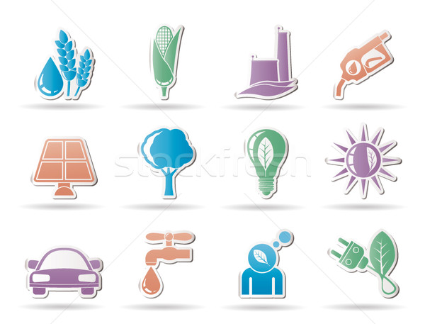 Ecology, environment and nature icons  Stock photo © stoyanh