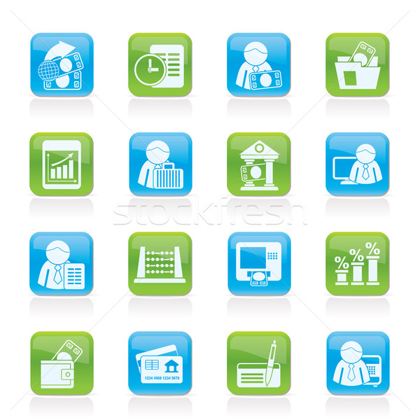 Bank and Finance Icons  Stock photo © stoyanh