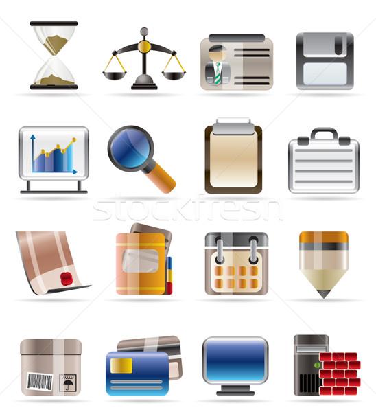 Stockfoto: Realistisch · business · kantoor · vector · technologie