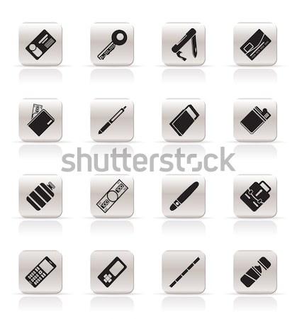 Egyszerű smink ikon gyűjtemény egészség szépség ikonok Stock fotó © stoyanh