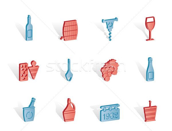 Wine and drink Icons  Stock photo © stoyanh