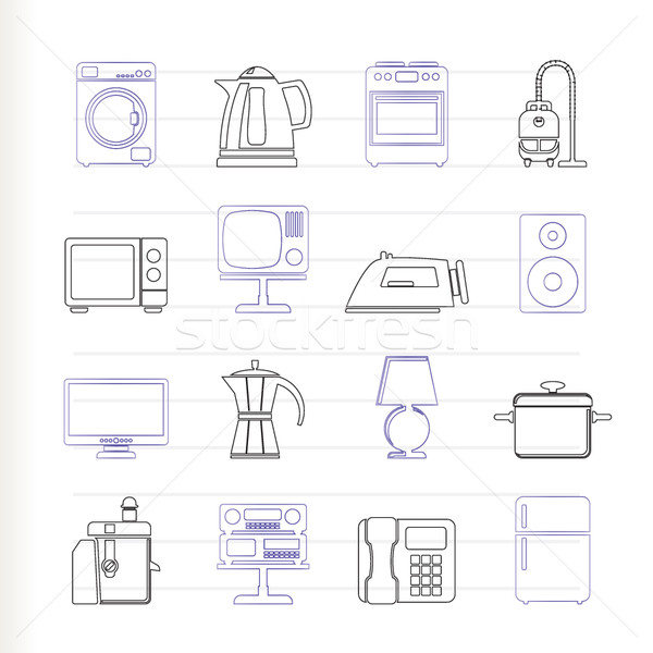 home equipment icons  Stock photo © stoyanh
