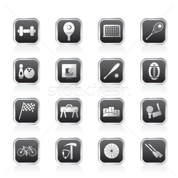 Simple Sports gear and tools icons  Stock photo © stoyanh