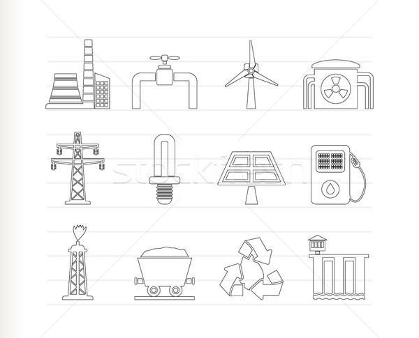 Zdjęcia stock: Moc · elektrycznej · przemysłu · ikona · wektora