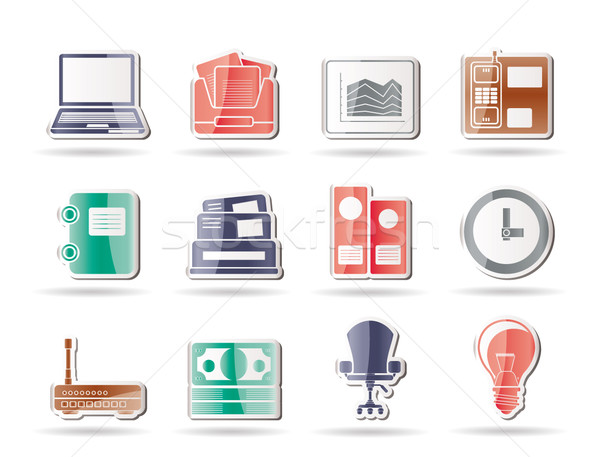 Stock photo: Business and office icons
