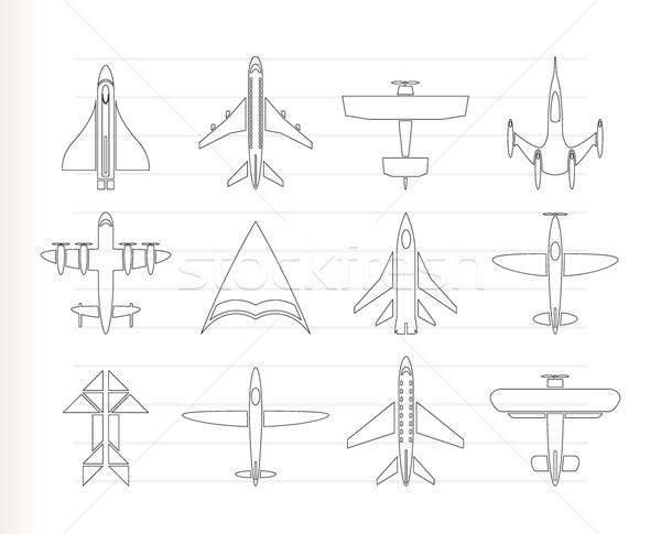 Inny płaszczyzny ikona wektora samolot Zdjęcia stock © stoyanh