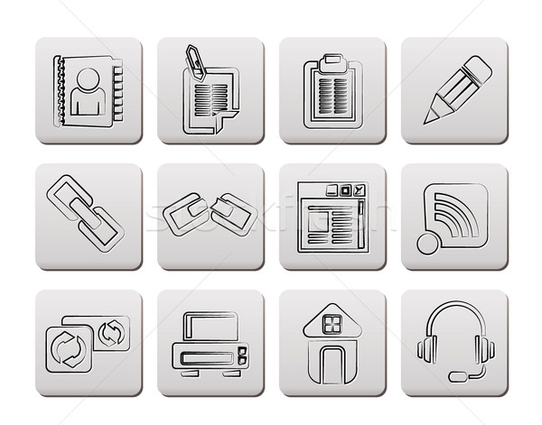internet and website icons  Stock photo © stoyanh