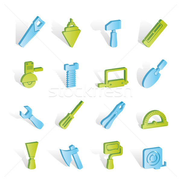 Building and Construction Tools icons  Stock photo © stoyanh