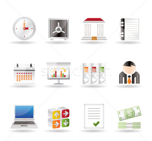 Business, finance and office icons  Stock photo © stoyanh