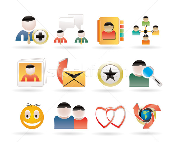 Stock photo: Internet Community and Social Network Icons