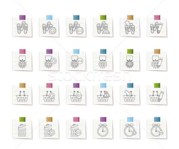 Stock photo: 24 Business, office and website icons