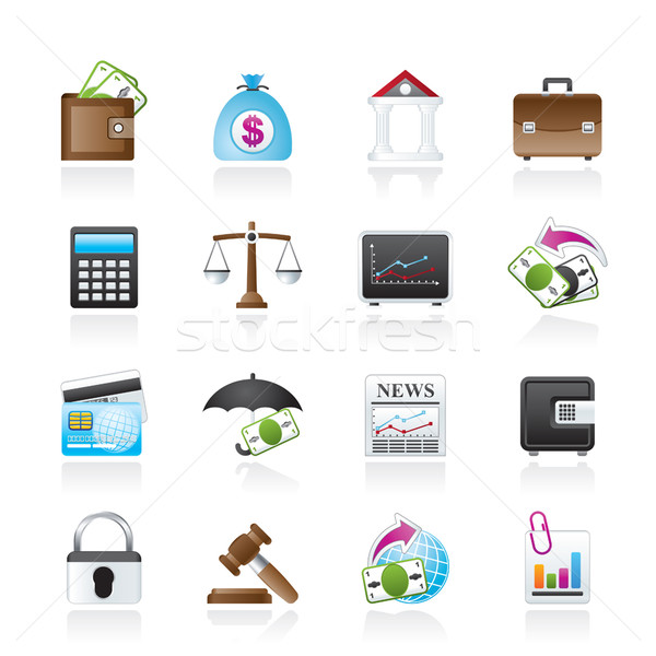 Business, finance and bank icons  Stock photo © stoyanh
