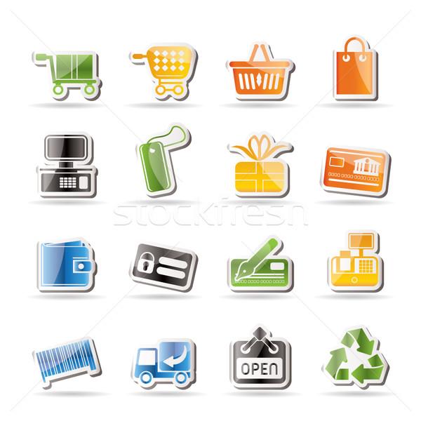 Stok fotoğraf: Basit · çevrimiçi · alışveriş · simgeler · vektör