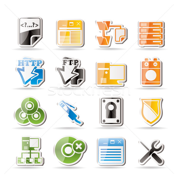 Simple Server Side Computer icons Stock photo © stoyanh