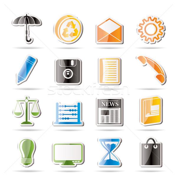 простой бизнеса служба Интернет иконы вектора Сток-фото © stoyanh
