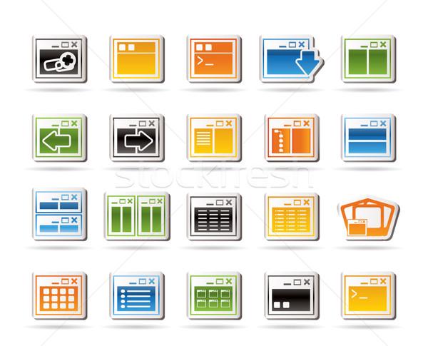 Stockfoto: Toepassing · programmering · server · computerpictogrammen · vector