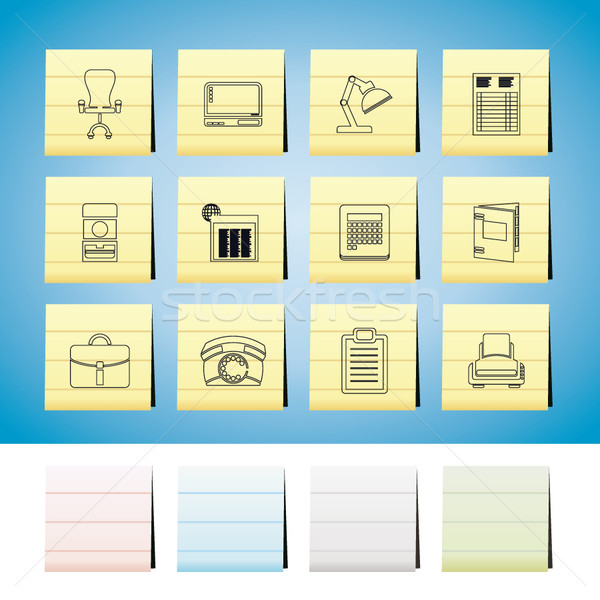 Business, office and firm icons  Stock photo © stoyanh