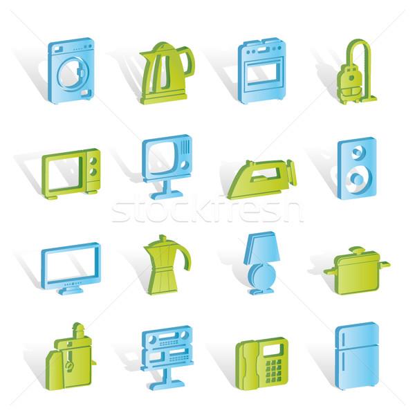 Zdjęcia stock: Domu · wyposażenie · ikona · wektora · kawy