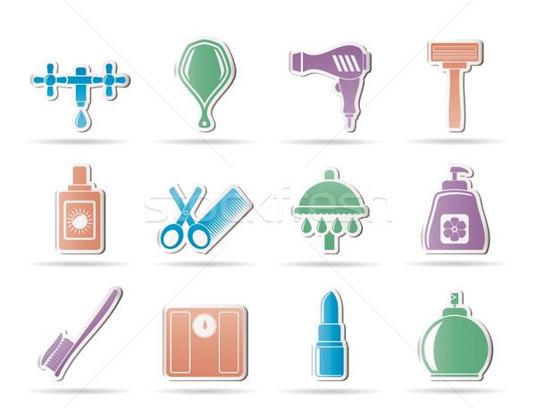 Osobowych opieki kosmetyki ikona wektora Zdjęcia stock © stoyanh