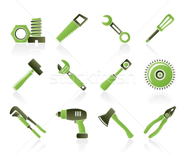 Photo stock: Différent · outils · icônes · vecteur · travail