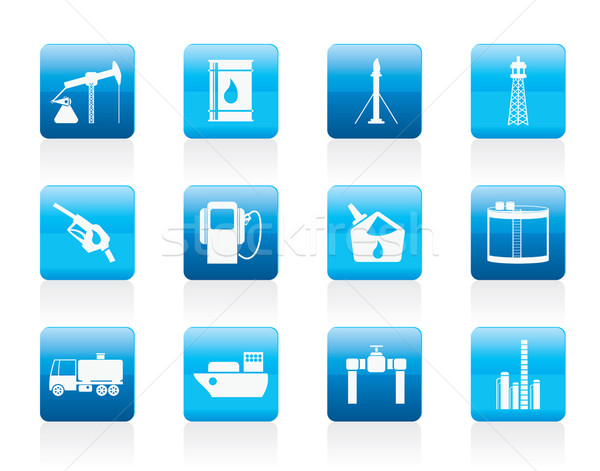 Oil and petrol industry icons Stock photo © stoyanh