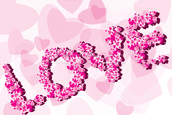 Valentine Background with caption love  Stock photo © stoyanh