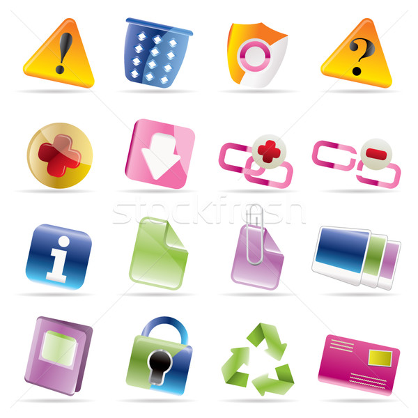 Web site and computer Icons  Stock photo © stoyanh
