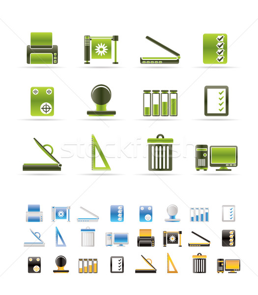 Print industry Icons - Vector icon set  - 3 colors included Stock photo © stoyanh