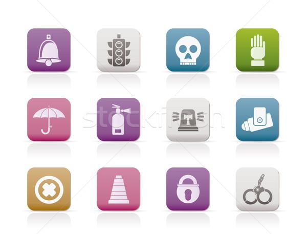 Inwigilacja bezpieczeństwa ikona wektora komputera Zdjęcia stock © stoyanh