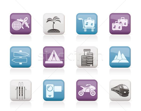 Zdjęcia stock: Wakacje · podróży · transport · ikona · wektora