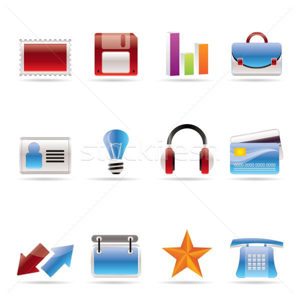 ストックフォト: オフィス · ビジネス · アイコン · ベクトル · 電話