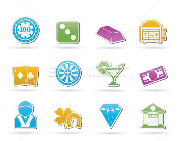 casino and gambling icons  Stock photo © stoyanh