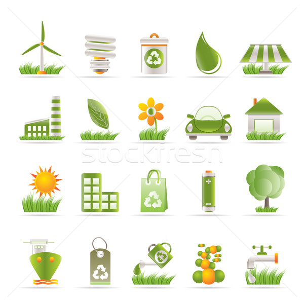 Stock photo: Ecology and nature icons
