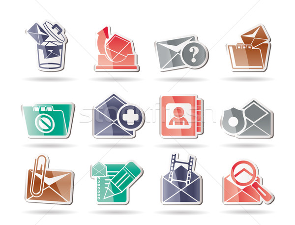 E-mail and Message Icons  Stock photo © stoyanh